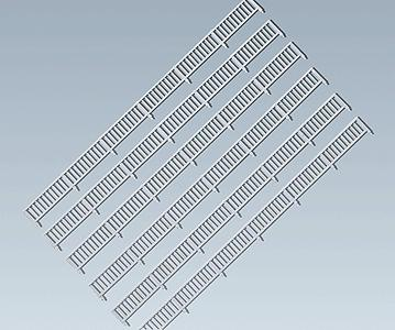 Faller Gmbh Two-Rail Fence w/Posts (Era I) -- Z Scale Model Railroad Scenery -- #282841