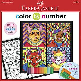 Faber-Castell Color By Number Trendy Animals