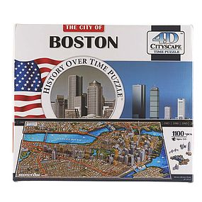 4D-Cityscape Boston USA 3D Jigsaw Puzzle #40080