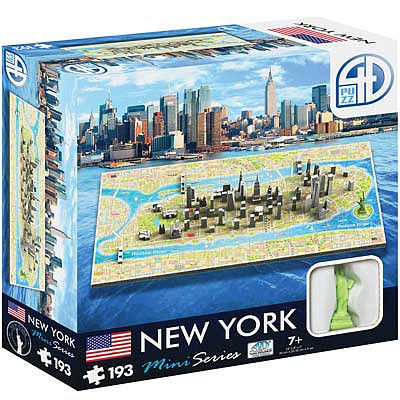 4D Cityscape Puzzles 4D Mini New York 193pcs -- 4D Jigsaw Puzzle -- #70000