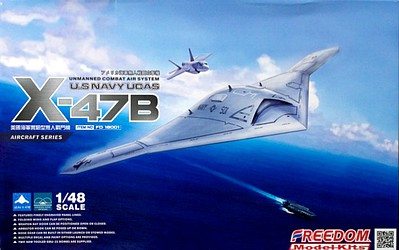 Freedom Model Kits 1/48 X47B UCAV (unmanned combat air system) USN Modern Aircraft