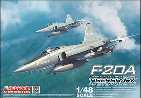 Freedom F20A Tiger Shark USAF Fighter Plastic Model Airplane Kit 1/48 Scale #18002