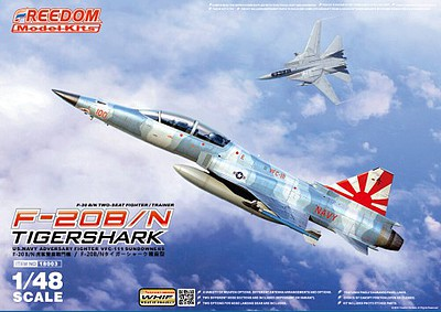 Freedom Model Kits 1/48 F20B/N Tigershark VFC111 Sundowners 2-Seater USN Adversary Fighter