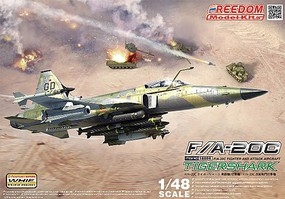 Freedom F/A20C Tigershark Fighter/Attacker with Weapons Plastic Model Airplane Kit 1/48 #18004