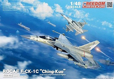 Freedom ROCAF F-CK1C Ching Kuo Defense Fighter Plastic Model Airplane Kit 1/48 #18005