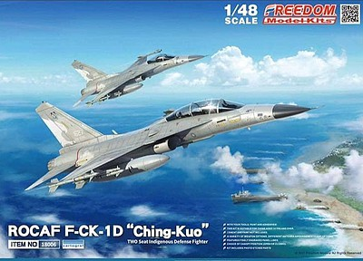 Freedom ROCAF F-CK1D Ching Kuo Defense Fighter Plastic Model Airplane Kit 1/48 #18006