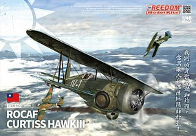 Freedom ROCAF Curtiss Hawk III BiPlane Fighter (New Tool) Plastic Model Airplane Kit 1/48 #18009