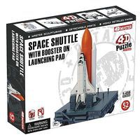 4D-Vision Space Shuttle w/Booster on Launching Pad Snap Kit Plastic Model Aircraft Kit 1/450 #26376
