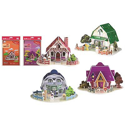 Firefox Toys LLC House Card with Envelope 105pcs -- 3D Jigsaw Puzzle -- #bd-c010