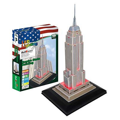Firefox Toys LLC Empire State Building with Light 38pcs -- 3D Jigsaw Puzzle -- #bd-l104
