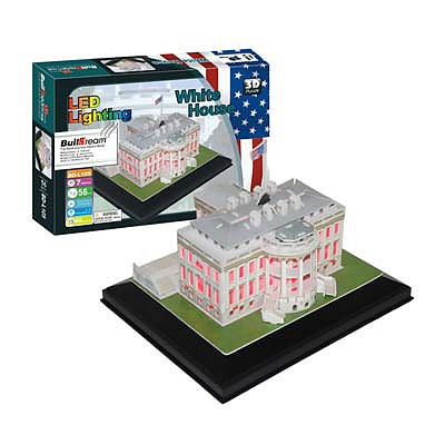 Firefox Toys LLC White House with Light 56pcs -- 3D Jigsaw Puzzle -- #bd-l105