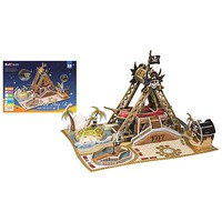 Firefox Pirate Ship 76pcs 3D Jigsaw Puzzle #bd-p001