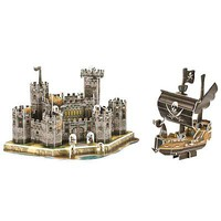Firefox Medieval Pirate Ship & Castle 72pcs 3D Jigsaw Puzzle #bd-s018