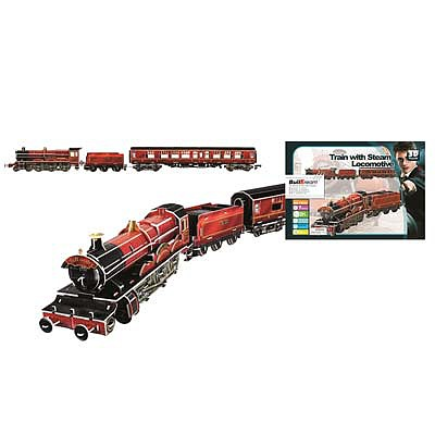 Firefox Toys LLC Train with Steam Locomotive 201pcs -- 3D Jigsaw Puzzle -- #bd-t003t
