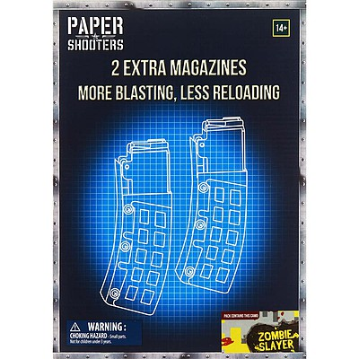 Firefox Toys LLC Paper Shooters Zombie Slayer Magazine 2-Pack