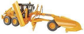 First-Gear Orange Komatsu Motor Grader with wing Diecast Model Construction Equipment 1/50 #503082