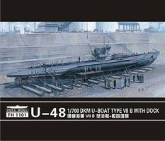 Fly-Hark DKM U-Boat U-48 Type VII Plastic Model Military Ship Kit 1/700 Scale #1101