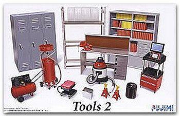 Garage Tools Set 2 Plastic Model Vehicle Accessory Set 124 Scale