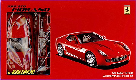 Fujimi Ferrari 599 GTB Fiorano -- Plastic Model Car Kit -- 1/24 Scale -- #12277