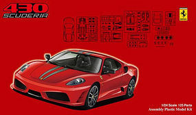 Fujimi Ferrari F430 Scuderia Sports Car Plastic Model Car Kit 1/24 Scale #12336