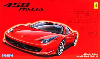 Fujimi 2009 Ferrari 458 Italia Sports Car Plastic Model Car Kit 1/24 Scale #12