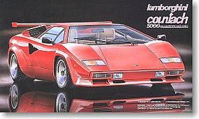 Fujimi Lamborghini Countach 5000 Quattorovalvole Plastic Model Car Kit 1/24 Scale #12552