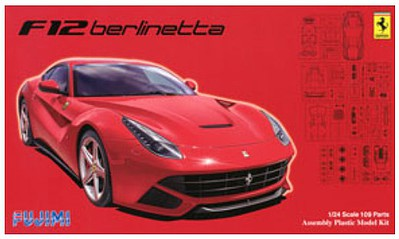 Fujimi Ferrari F12 Berlinetta Sports Car Plastic Model Car Kit 1/24 Scale #12562
