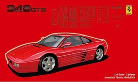 Fujimi Ferrari 348GTS Sports Car Plastic Model Car Kit 1/24 Scale #12591