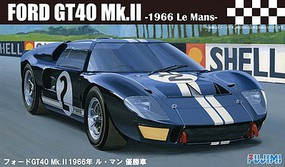Fujimi Ford GT40 Mk II #2 1966 LeMans Race Car Plastic Model Car Kit 1/24 Scale #12603
