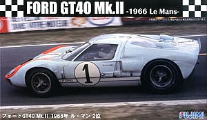 Fujimi Ford GT40 Mk II #1 1966 LeMans Race Car -- Plastic Model Car Kit -- 1/24 Scale -- #12604