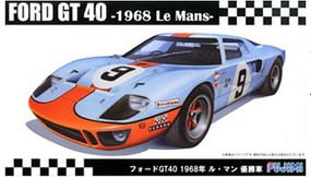 Fujimi Ford GT40 1968 LeMans Winner Race Car Plastic Model Car Kit 1/24 Scale #12605