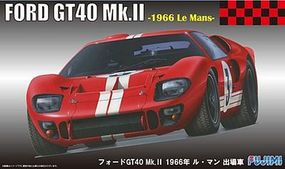 Fujimi Ford GT40 Mk II 1966 LeMans Race Car Plastic Model Car Kit 1/24 Scale #12606