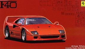 Fujimi Ferrari F40 Sports Car Plastic Model Car Kit 1/24 Scale #12625