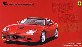 Fujimi Ferrari Super America Sports Car Plastic Model Car Kit 1/24 Scale #12637