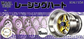 Fujimi 1/24 Racing Haert 15 Tire & Wheel Set