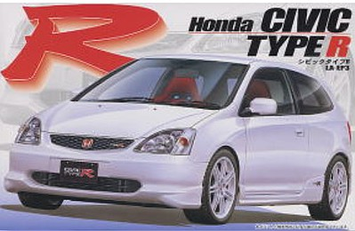 Fujimi 2001 Honda Civic Type R Car (Re-Issue) Plastic Model Car Kit 1/24 Scale #3539