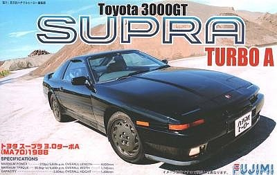 Fujimi Toyota Supra 3000 GT Turbo A Sports Car Plastic Model Car Kit 1/24 Scale #3862