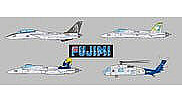 Fujimi US Navy 1998 Carrier Set (CVW2 & CVW5) -- Plastic Model Airplane Kit -- 1/700 Scale -- #45110