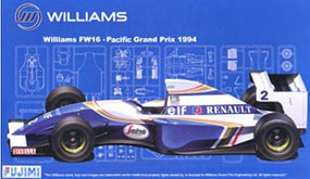 Fujimi 1994 Williams FW16 GP21 Pacific Grand Prix Race Car Plastic Model Car Kit 1/20 #9065