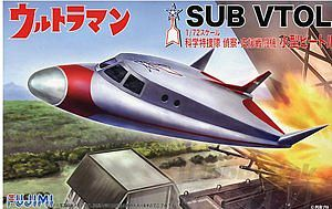 Fujimi Ultraman Sub VTOL Aircraft Science Fiction Plastic Model 1/72 Scale #9131