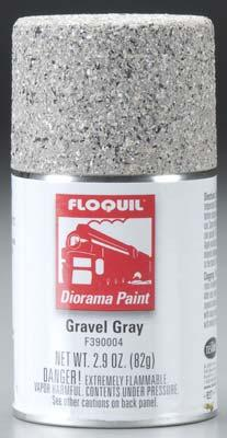 Floquil 2.9oz. Spray Gravel Gray Textured Paint