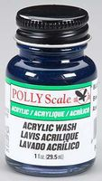 Floquil (bulk of 6) 1oz. Bottle Polly Scale Acrylic Blue Wash (D)