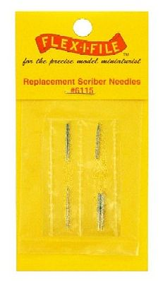 Flex-I-File Scriber Needle Replacements- 3ea Coarse, Fine