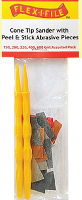 Flex-I-File Cone Sander Assorted & 2 Handl