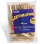 Forster Manufactuing Flat No-Roll Clothespins (40/Bag)