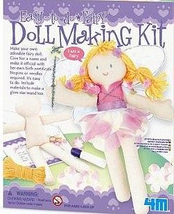 4M Project Kits Fairy Doll Making Kit -- Fabric Craft and Activity -- #3526