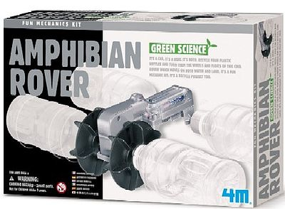 4M Project Kits Amphibian Rover Green Science Kit -- Science Engineering Kit -- #3636
