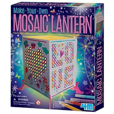 4M Project Kits Make Your Own Mosaic Lantern Kit -- Activity Craft Kit -- #3700