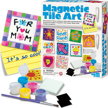 4M Project Kits Magnetic Tile Art Kit -- Magnet Kit -- #4563
