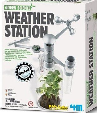4M Project Kits Weather Station Green Science Kit -- Science Engineering Kit -- #4573